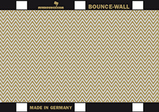 BOUNCE WALL reflecteur zebra/blanc