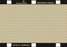 BOUNCE WALL reflecteur zig zag or/blanc